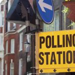 Photograph of a polling station