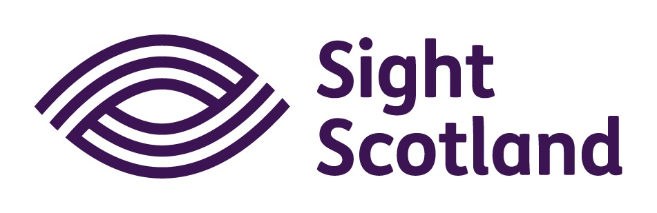 the Sight Scotland logo. An eye icon with text that reads Sight Scotland